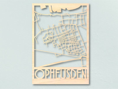 Landkaart hout Opheusden