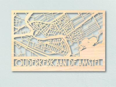 Landkaart hout Oudekerk aan de Amstel
