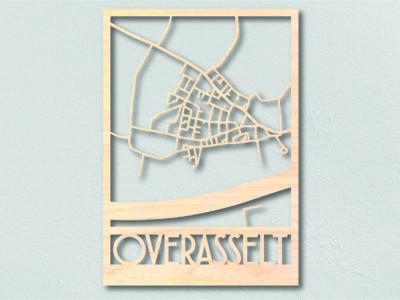 Landkaart hout Overasselt