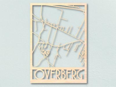 Landkaart hout Overberg