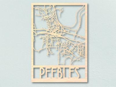 landkaart hout Peebles