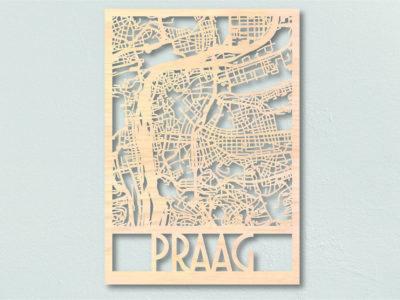 landkaart hout Praag