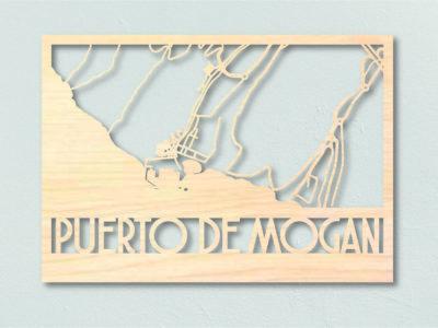 landkaart hout Puerto de Morgan