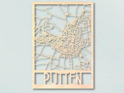landkaart hout Putten