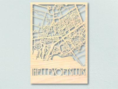 Landkaart hout Hellevoetsluis