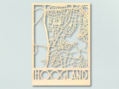 Landkaart hout Hoogland
