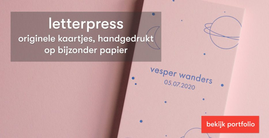 letterpress geboortekaartje laten drukken op mooi papier
