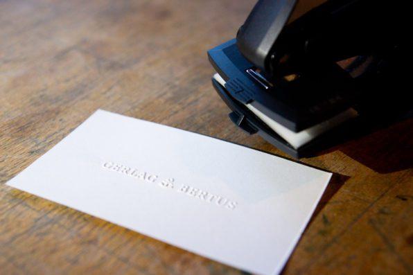 reliefstempel papier
