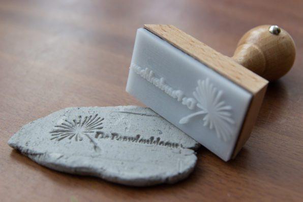 logo stempel voor zeep en klei