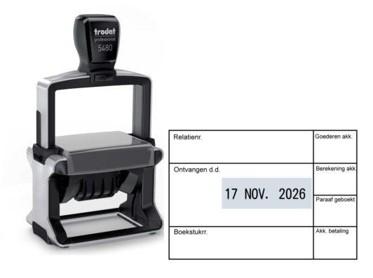datumstempel bestellen eigen ontwerp
