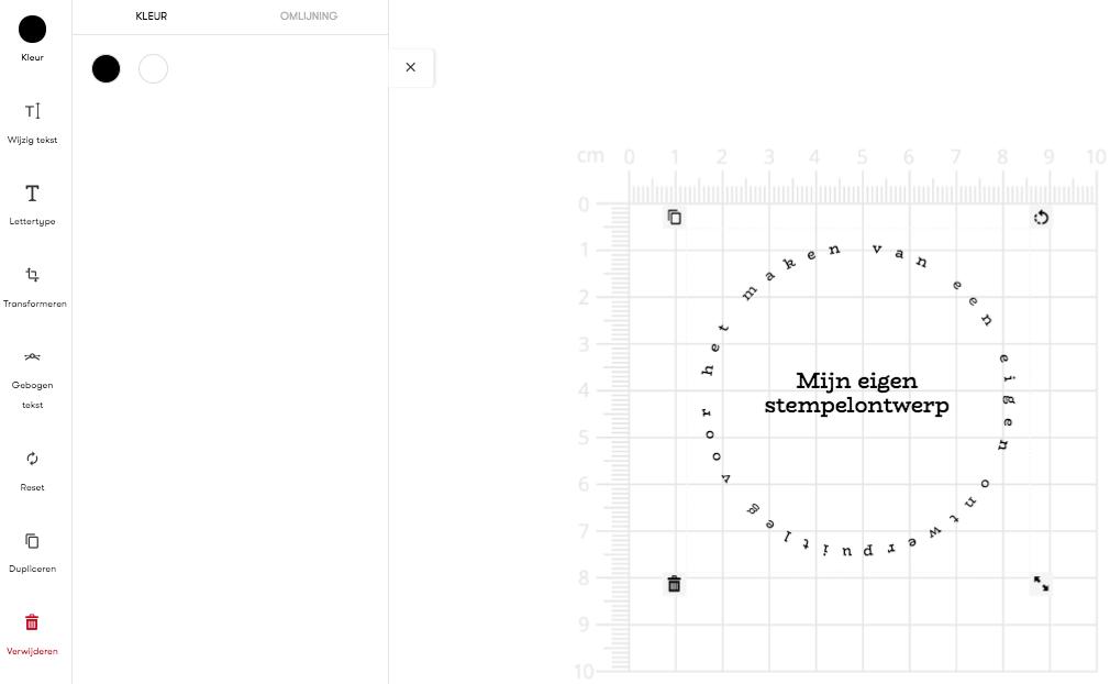 online stempel ontwerpen